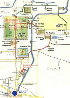 Angkor Wat map.