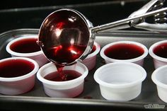 cherry coke jello shots- definitely making for the next get together