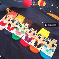 A set of 6 pair Sailor moon cute socks by Theonevarietyshop