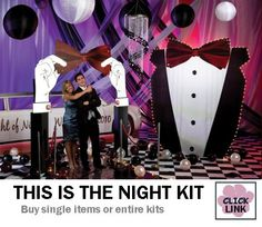 This is the Night Black Tie Prom Decorations - entire kit starts at $515.99 or buy only the pieces you need.