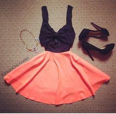 Summer Outfit - Skirt - Top - Heels