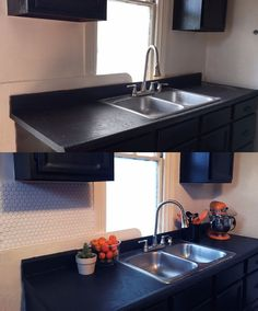 A little bit of effort, and a whole lot of wow! If you are looking for a quick and easy way to add some tile to a space I seriously suggest this stuff! Diy Concrete Counter, Outdoor Kitchen Countertops, Refacing Kitchen Cabinets, Cabinet Refacing, Painting Kitchen Cabinets, Kitchen Backsplash, Diy Kitchen, Kitchen Design, Easy Backsplash