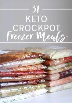 31 Keto Crockpot Freezer Meals