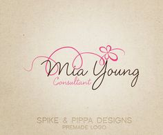 Premade Logo and Watermark for Photographers and Small Business Owners. $12.00, via Etsy.