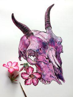 india ink desert rose