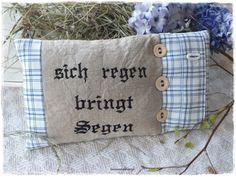"""♥ """"Sich regen bringt Segen"""" Lavendelkissen ♥ von Lavendelherz´l auf DaWanda.com"""