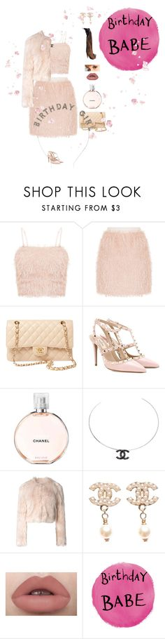 """""""Birthday Girl!"""" by moonlightbae264 ❤ liked on Polyvore featuring Chanel, Valentino, RED Valentino and Charlotte Russe"""