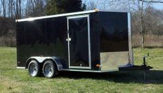 """2014 7x14 ENCLOSED CARGO TRAILER V-NOSE REAR RAMP 6' 3"""" INTERIOR HEIGHT  DROP RAMP REAR LED LIGHTS 15"""" NEW TIRES  36""""RV FLUSH LOCK SIDE DOOR 16"""" ON CENTER FLOORS 16"""" ON CENTER WALLS 3/4"""" PLYWOOD FLOORS 3/8"""" PLYWOOD WALLS ROOF VENT DOME LIGHT DIAMOND PLATE STONE GUARD ON FRONT 3/4 PLYWOOD FLOOR 3/8 PLYWOOD WALLS (NOT LAUN) 3 YEAR WARRANTY (NOT 1 YEAR) WE HAVE BEEN IN BUSINESS AT THE SAME LOCATION FOR OVER 30 YEARS.  TRIUNE TRAILERS  615-483-7397 $3450.00"""