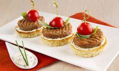 Miniburger tricolore