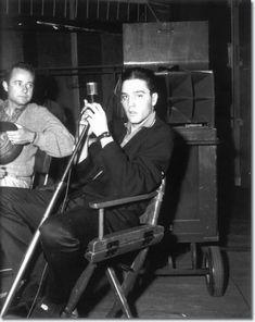 *Elvis: recording session for the soundtrack G.I. Blues, 1960