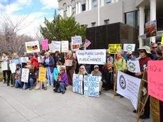 Rally in opposition to SJR 1 at the Nevada State Legislature on March 2, 2015.
