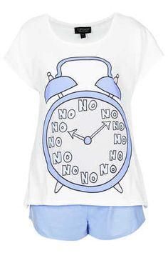 No No No Pyjama Tee and Shorts - Nightwear~ Cozy Pajamas, Onesie Pajamas, Satin Pyjama Set, Pajama Set, Pajama Party, Topshop Pyjamas, Primark Pyjamas, Pajamas For Teens, Pijamas Women