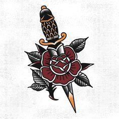 traditional tattoo dagger - Google zoeken