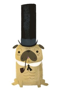 Graham Corcoran // would make for a cute pug tattoo.