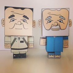 My paper craft Bill Murray Characters Find more here: https://www.facebook.com/jessicarooneydeanedesign