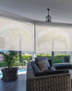 Steve's outdoor solar shades are window treatments for your porch, gazebo, pergola, or other outdoor structures. Steve's outdoor solar shades keeps the inside of your home cooler when installed in front of large windows or doors. Deck Shade, Pergola Shade, Deck With Pergola, Pergola Ideas, Pergola Kits, Pergola Plans, Porch Ideas, Pergola Cover, Porch Gazebo
