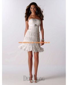 Designe Sexy Brautkleider 2013 aus Chiffon mit Perlenstickerei