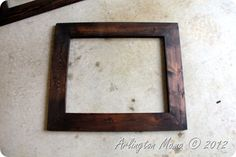 Annie's Blessed Nest: DIY Frames for Canvas