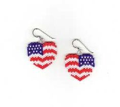 Bead Pattern - Heart Deco Patriot
