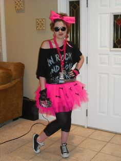 Character - Cyndi Gibson ONLY for pink tutu, black 3/4 leggings, shoes and black fingerless mesh gloves
