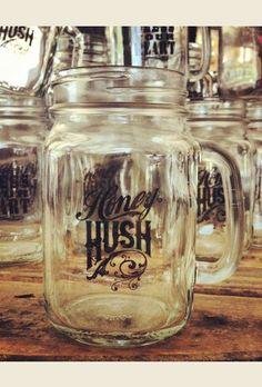 HoNEY huSH maSON JaR mug