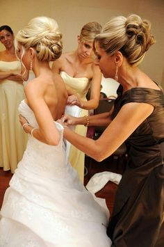 The Bride and Bridesmaids hair are all incredible.