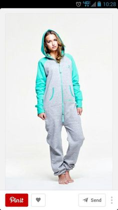 OnePiece Contrast Soft Green - OnePiece – Jump In Onesie Pajamas, Pyjamas, Dress Me Up, Lounge Wear, Style Me, Onesies, Cute Outfits, Jumpsuit, One Piece