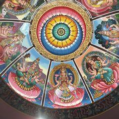 Ashtalakshmi Ceiling Mural Sri Senpaga Vinayagar Temple, Sea View Estate, Singapore.