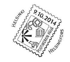 Finnischer Sonderstempel zum Tag der Briefmarke am 9. Oktober 2014: http://d-b-z.de/web/2014/09/25/finnischer-und-norwegischer-sonderstempel-zum-tag-der-briefmarke/