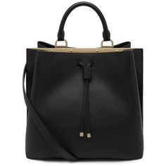 Kensington Black Small Classic Grain ($1,920) ❤ liked on Polyvore