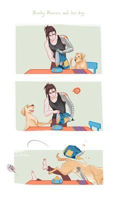 Bucky and his dog.