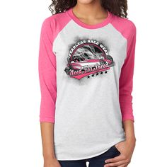 Fearless Race Wear Dragster Ball T's - Pink Print