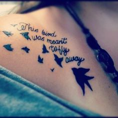 Hot quote tattoo for girls Time Tattoos, Sexy Tattoos, Cool Tattoos, Tatoos, Fashion Tattoos, Girly Tattoos, Piercing Tattoo, Ear Piercings, I Tattoo