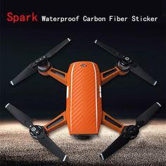 DJI Spark Carbon Fiber Decal Stickers