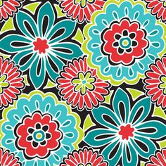 Micro Fleece Fabric- Bold Floral