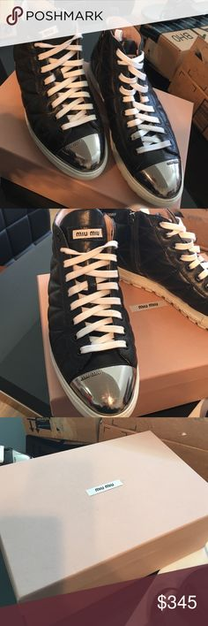 MiuMiu black Sneakers Authentic!!! Size 7.5 Excellent condition/ I don't keep the receipt / I bought it from Barneys New York / it is authentic/ NO Trade / 🅿️🅿️ for cheaper Miu Miu Shoes Sneakers