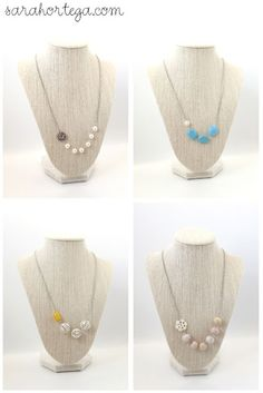DIY asymmetrical beaded necklace