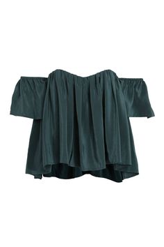 10 Must Have Off the Shoulder Tops - Spring Off the Shoulder Blouses - Elle. Stone Cold Fox Holy Tube Emerald Top