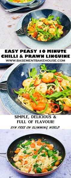 Make this super simple, delicious Chilli and Prawn Linguine recipe tonight! This easy pasta dish makes the perfect mid-week dinner, quick recipe for an evening in with friends or satisfying feast for one! Syn free on Slimming World too! Chilli Prawn Linguine, Seafood Linguine, Prawn Pasta, Linguine Recipes, Prawn Recipes, Curry Recipes, Seafood Recipes, Dinner Recipes, Noodle Recipes