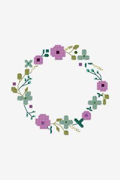 Cute Cross Stitch, Cross Stitch Borders, Modern Cross Stitch, Cross Stitch Charts, Cross Stitch Designs, Cross Stitching, Cross Stitch Embroidery, Embroidery Patterns, Wedding Cross Stitch Patterns