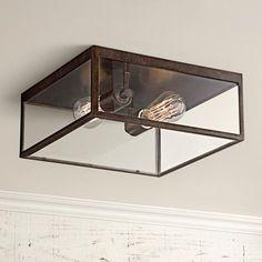 Lamps Plus Montesidro Bronze and Glass Outdoor Ceiling Light Ceiling Light Fixtures, Lamps Plus, Ceiling Lights, Low Ceiling Lighting, Porch Lamp, Outdoor Post Lights, Bronze, Light, Outdoor Ceiling Lights