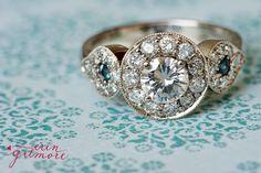 What a beautiful custom wedding ring!
