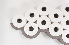 Concrete cloud-shaped toilet roll holder! Amazing! #product_design
