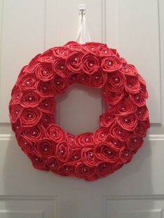 Sola flower wreath  Red Roses  Sola Flowers by SuperiorCraftSupply, $39.95