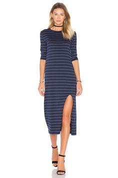 Viktoria + Woods Reclaim Maxi Dress in Navy & White   REVOLVE