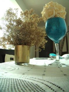 Tutorial | Vasos com glitter e purpurina para decoração de casamentos