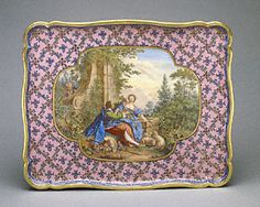 French, Sèvres, 1761  Painted by Charles-Nicolas Dodin copying a painting by Boucher