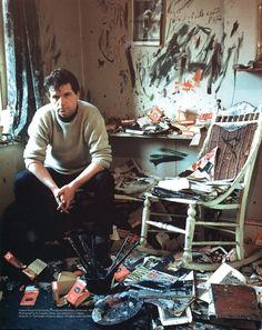Francis Bacon in his Battersea studio, Photography: Douglas Glass Painter Photography, Artistic Photography, Life Photography, Robert Motherwell, Artist Art, Artist At Work, Cy Twombly, Environmental Portraits, Richard Diebenkorn