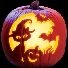 Unique pumpkin carving ideas alcohol for your cozy home - Halloween - - Real Time - Diet, Exercise, Fitness, Finance You for Healthy articles ideas Unique Pumpkin Carving Ideas, Cat Pumpkin Carving, Disney Pumpkin Carving, Halloween Pumpkin Carving Stencils, Carving Pumpkins, Free Pumpkin Carving Patterns, Pumpkin Ideas, Halloween Tags, Scary Halloween Pumpkins