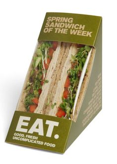 Packaging for EAT's new seasonal spring sandwiches. Yum. PD